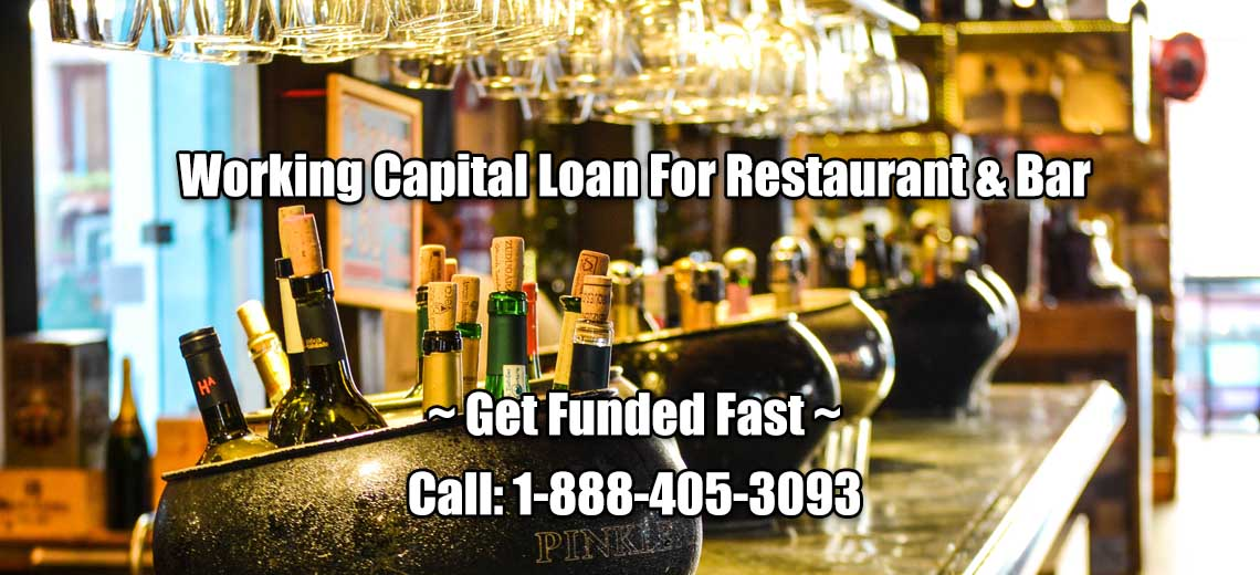 Fast Approval Working Capital Loan For Restaurant